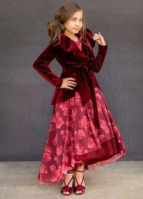 43c601fb7c0a2 Joyfolie Juliette Dress in Berry   Christmas Kids Fashion   Moda ...