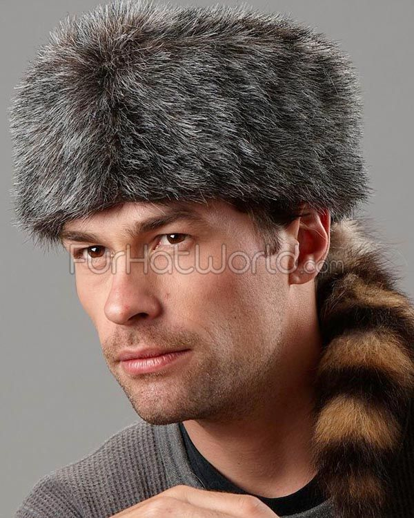 frr Kids Real Coonskin Davy Crockett Cap