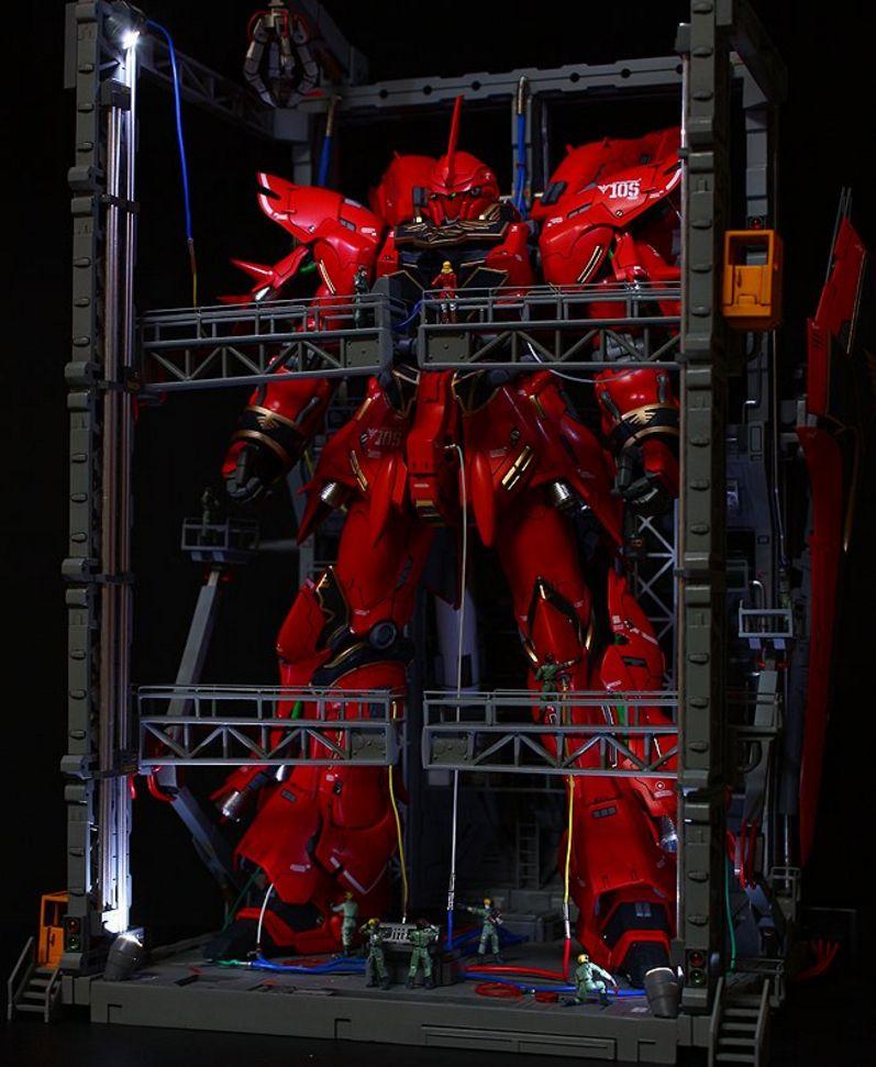 GUNDAM GUY: MG 1/100 Sinanju - Diorama Build