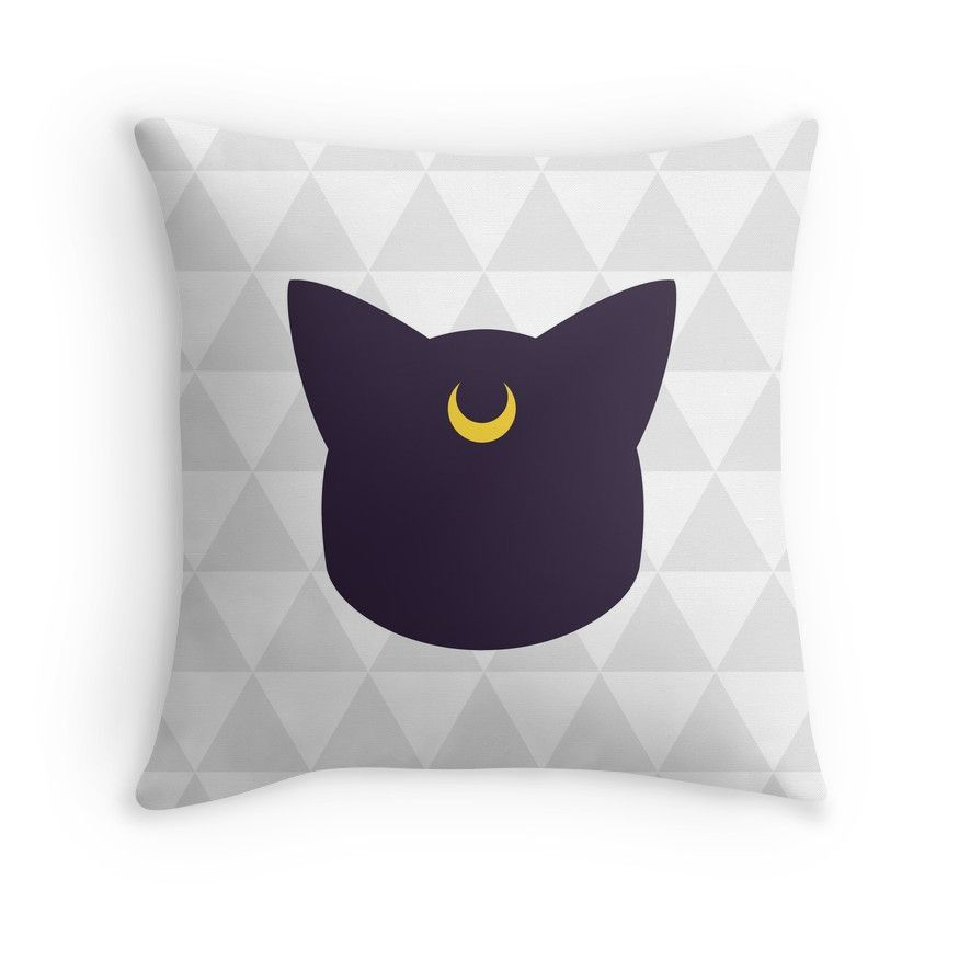 Sailor Moon Luna Throw Pillows dorm room Pinterest