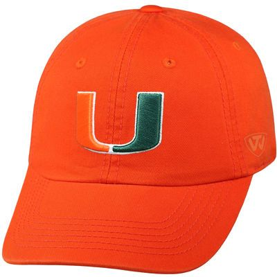 finest selection e6360 a9709 Men s Top of the World Orange Miami Hurricanes Home Team Crew Adjustable Hat