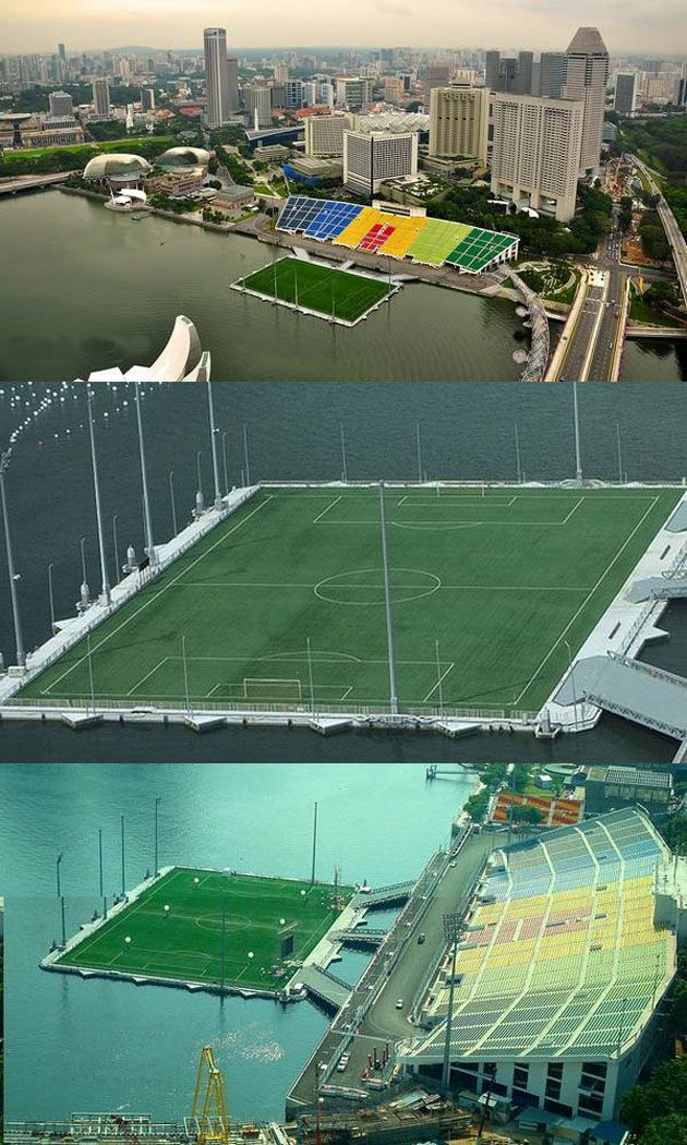 A Floating Stadium In Singapore Now There S Something You Don T Get To See Often I D Love To Visit This Place Soccer Training Soccer Football Soccer
