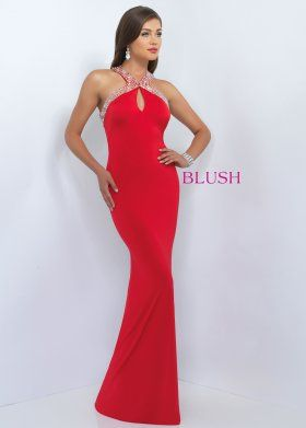 Blush Prom 11031 Gorgeous Beaded Form Fitting Prom Dress For Sale