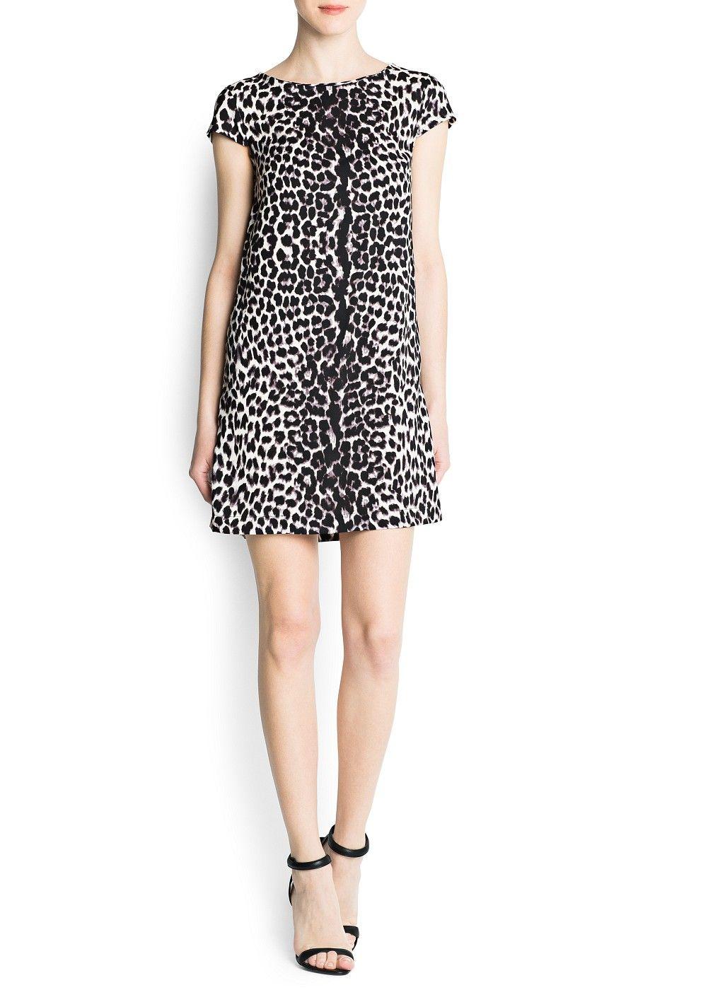 e1c1fafcd068 Vestido estampado leopardo - Mujer | Tendencias | Vestido estampado ...