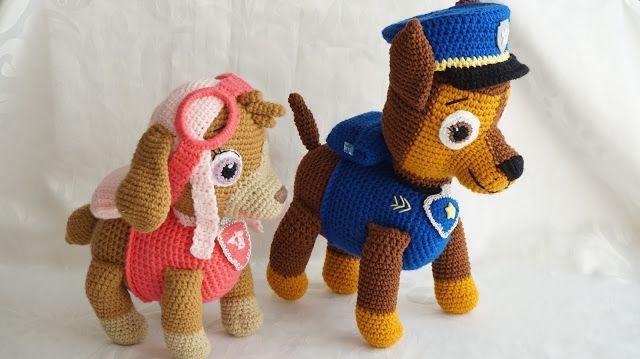 Canal crochet patrulla canina amigurumi tutorial - Munecos patrulla canina ...