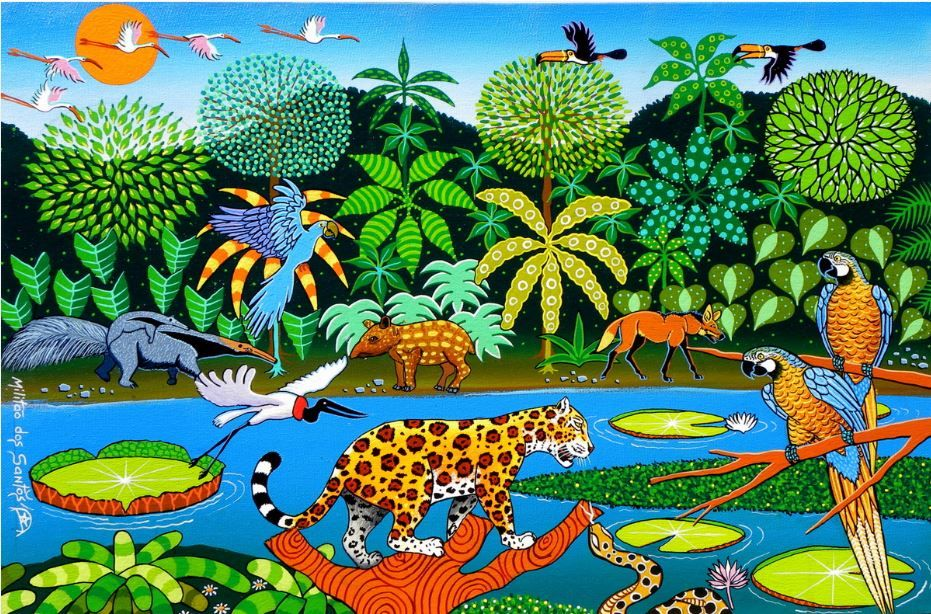Pantanal Brasileiro 2013 Acrilico E Oleo Sobre Tela Antonio