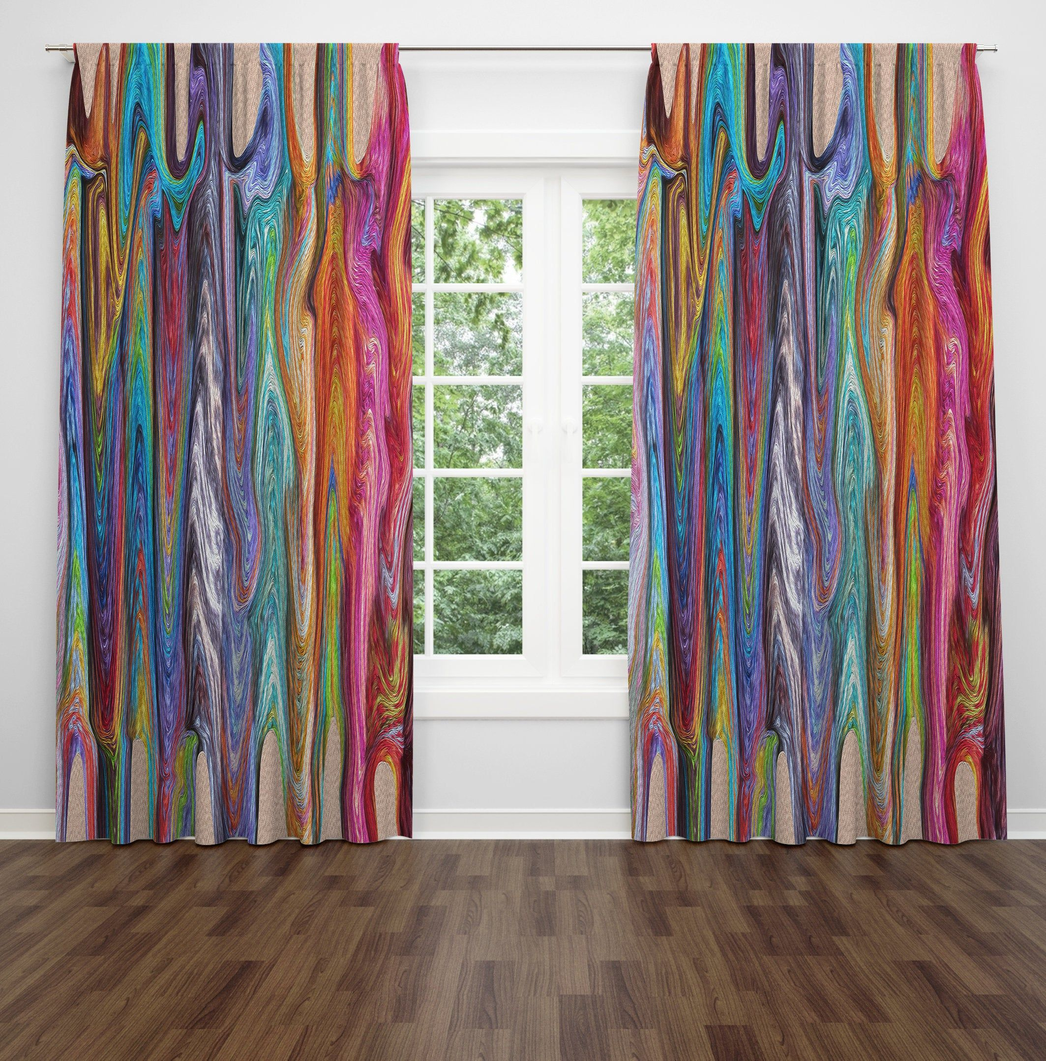 Boho Chic Lined Window Curtains by FolknFunky