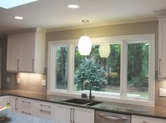 Large Window Over Sink Contemporary Kitchen Raleigh By