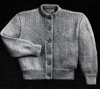 f16bead33 Seed Stitch Cardigan knit pattern from Fashions in Wool for Little ...