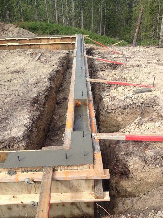 Concrete Footer And Stem Wall Construction Scott Herndon Homes General Contractor Blog Sandpoint House Foundation Framing Construction A Frame House Plans