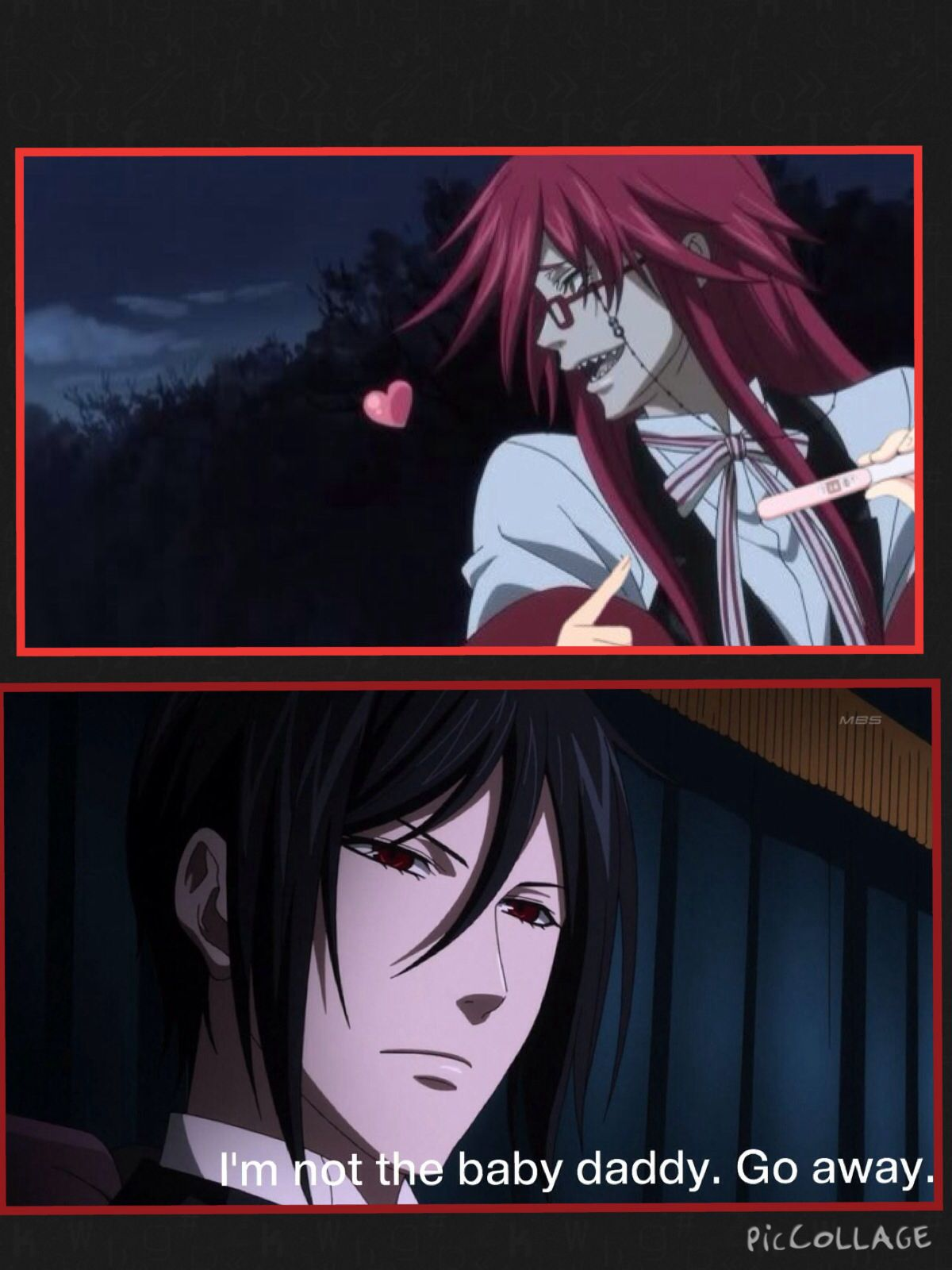 Anime Characters Pregnant Reader : Grell sebastian anime pregnancy meme made by moi one