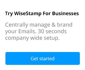 Try out Wisestamp Email Signature Links to Apps