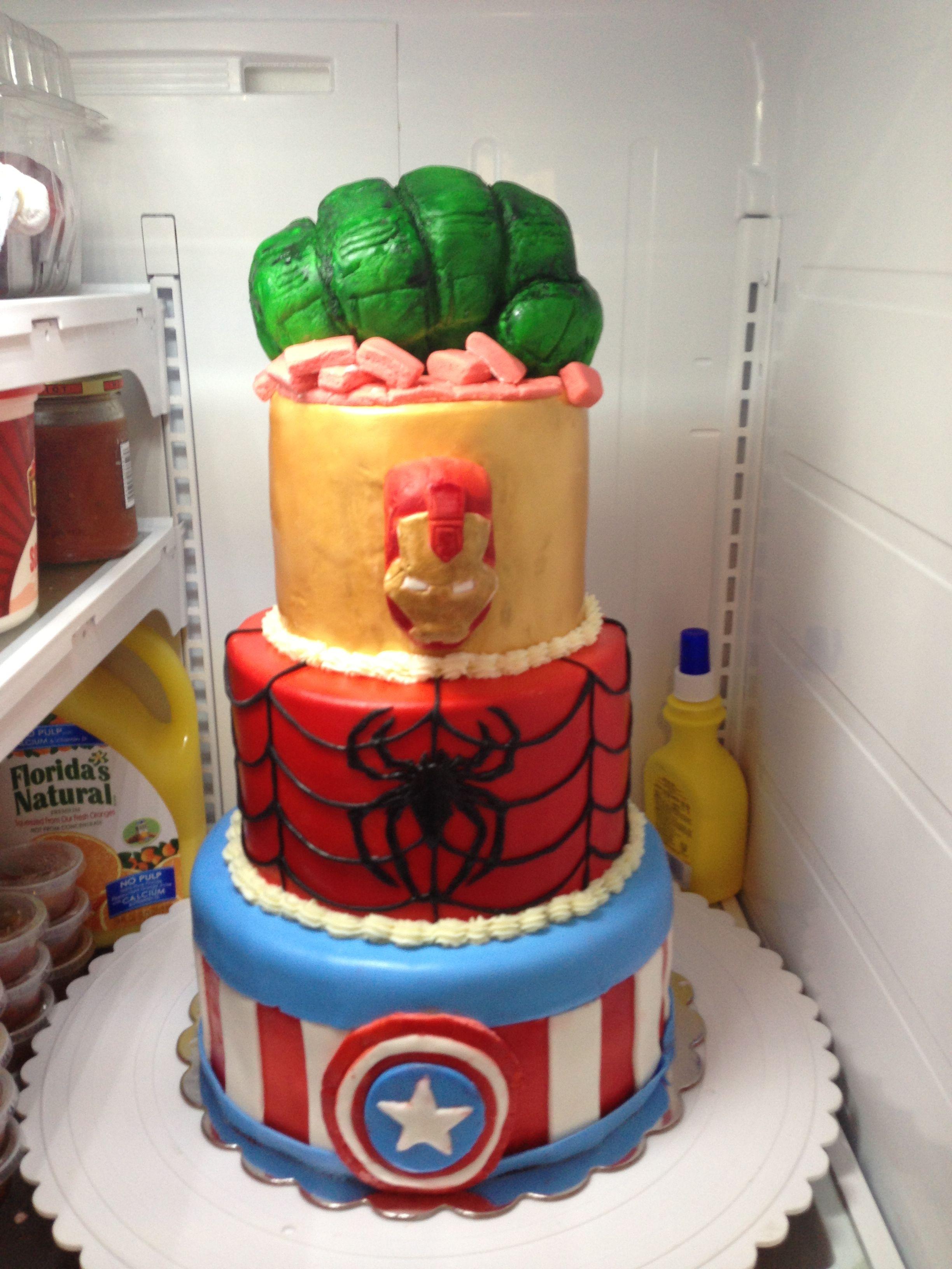 Avengers Cake Walmart : avengers, walmart, Maricel, Prescott, Collection, Superhero, Cake,, Birthday, Decorations