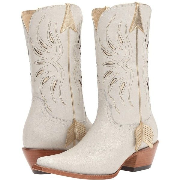 6a481a2c1ad Lucchese Golden Arrow (White) Cowboy Boots (€265) found on Polyvore ...