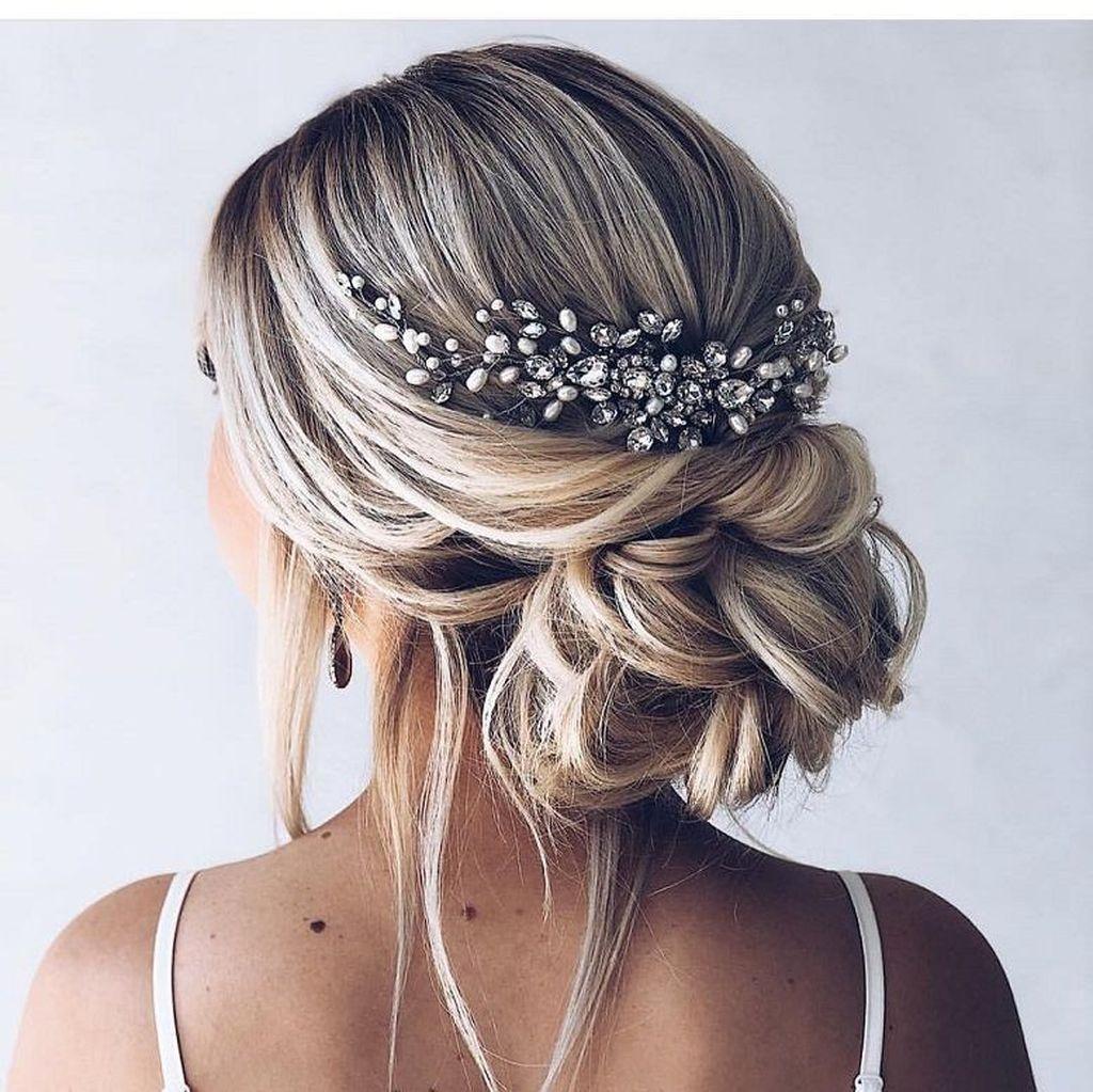 Elegant Wedding Hairstyle Idea: 40 Elegant Wedding Hairstyle Ideas For Brides To Try