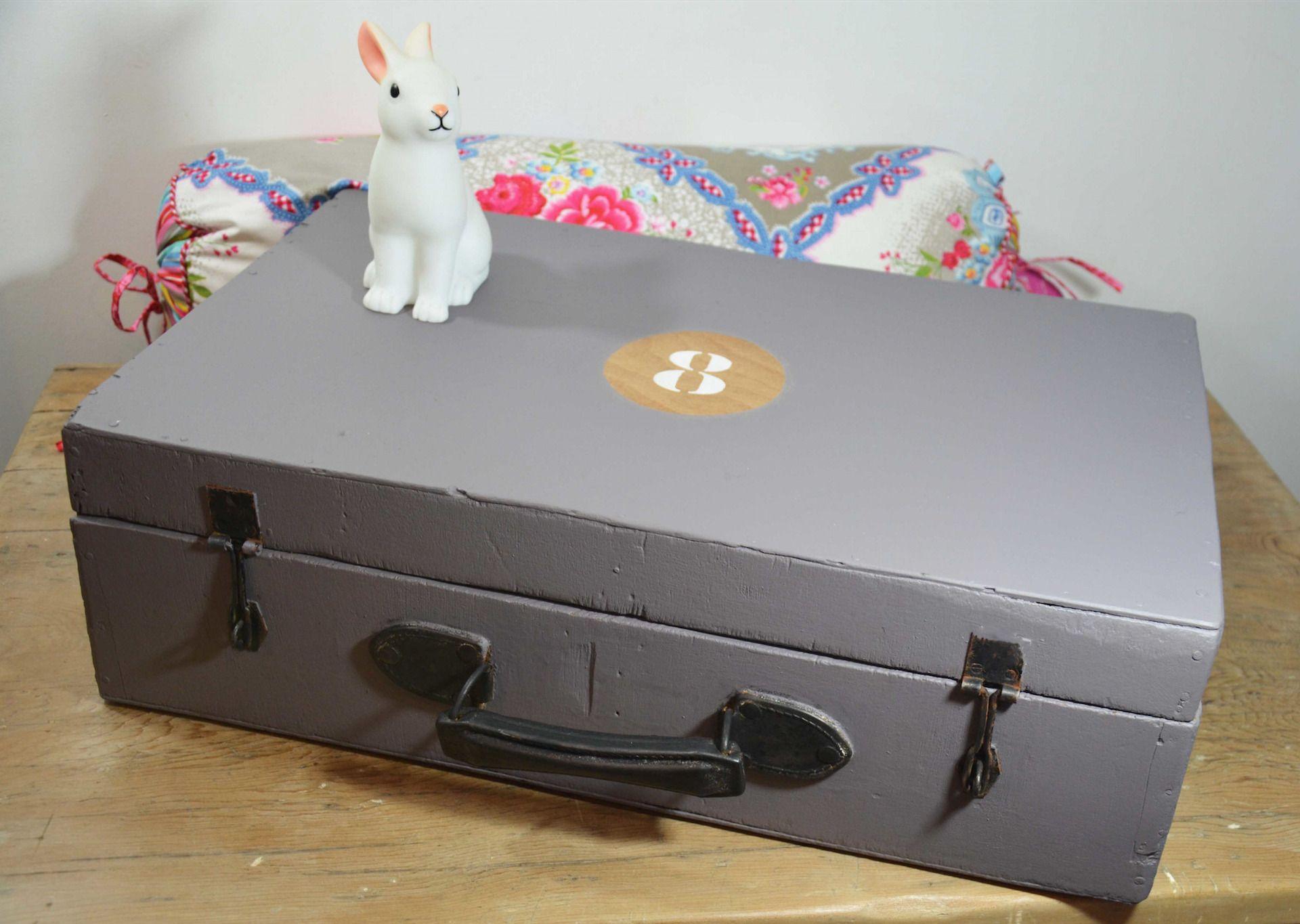 Ancienne valise bois vintage loft meuble métier indus enfant deco