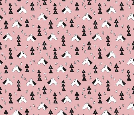Dutch traditional Sinterklaas horse print pink fabric - surface ...