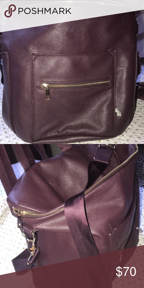 9d3a080c9c Guc plum fawn design diaper bag Zipper is broken but other than that not  very many flaws! fawn design Bags Baby Bags