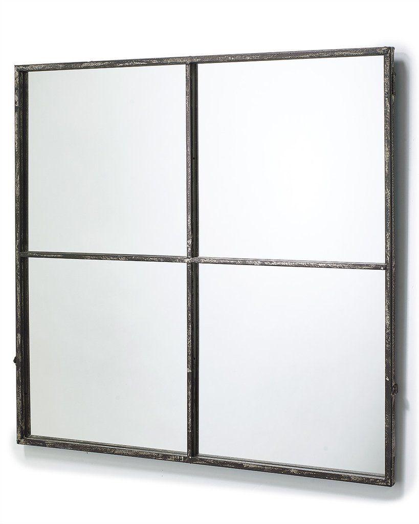 Mirrordeco Com Window Frame Mirror Distressed Black Frame H 80cm Framed Mirror Wall Window Pane Mirror Mirror