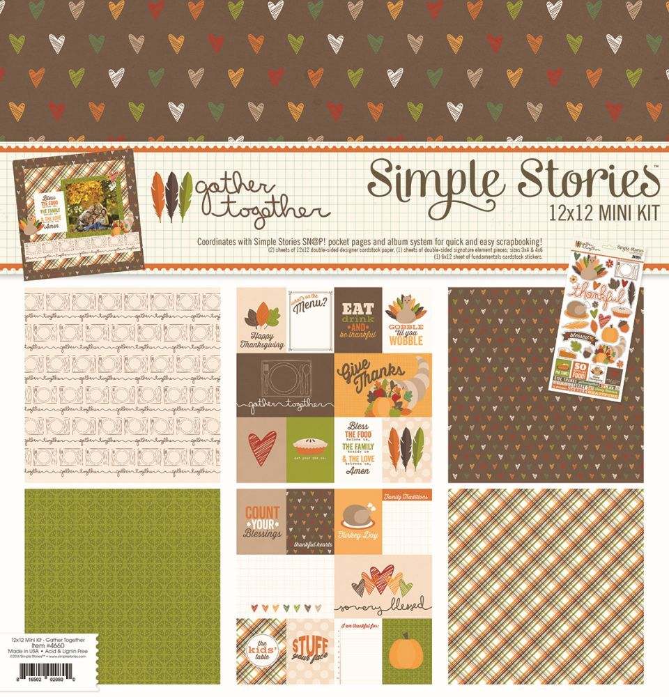 Gather Together Collection Kit by Simple Stories for Scrapbooks, Cards, & Crafting found at FotoBella.com