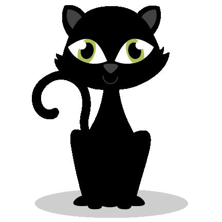Black Cat Black Cat Art Cricut Halloween Cute Clipart