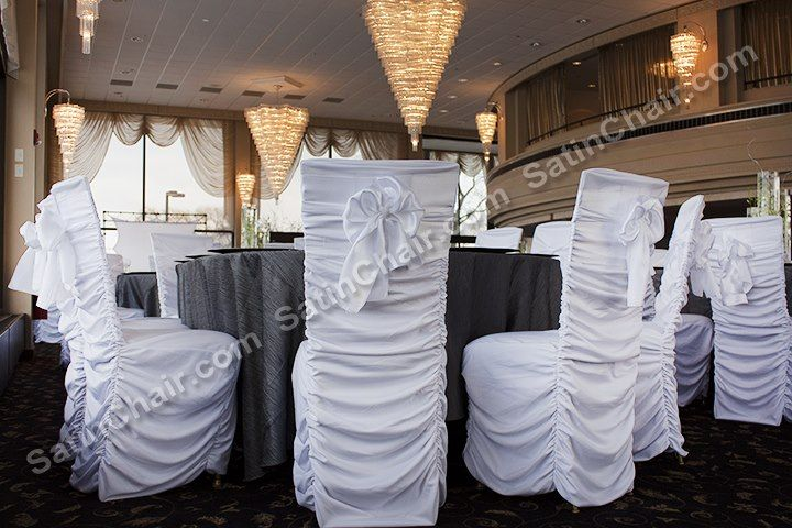 Sensational Rent Ruched Chair Covers Wedding Event Decor At Gmtry Best Dining Table And Chair Ideas Images Gmtryco