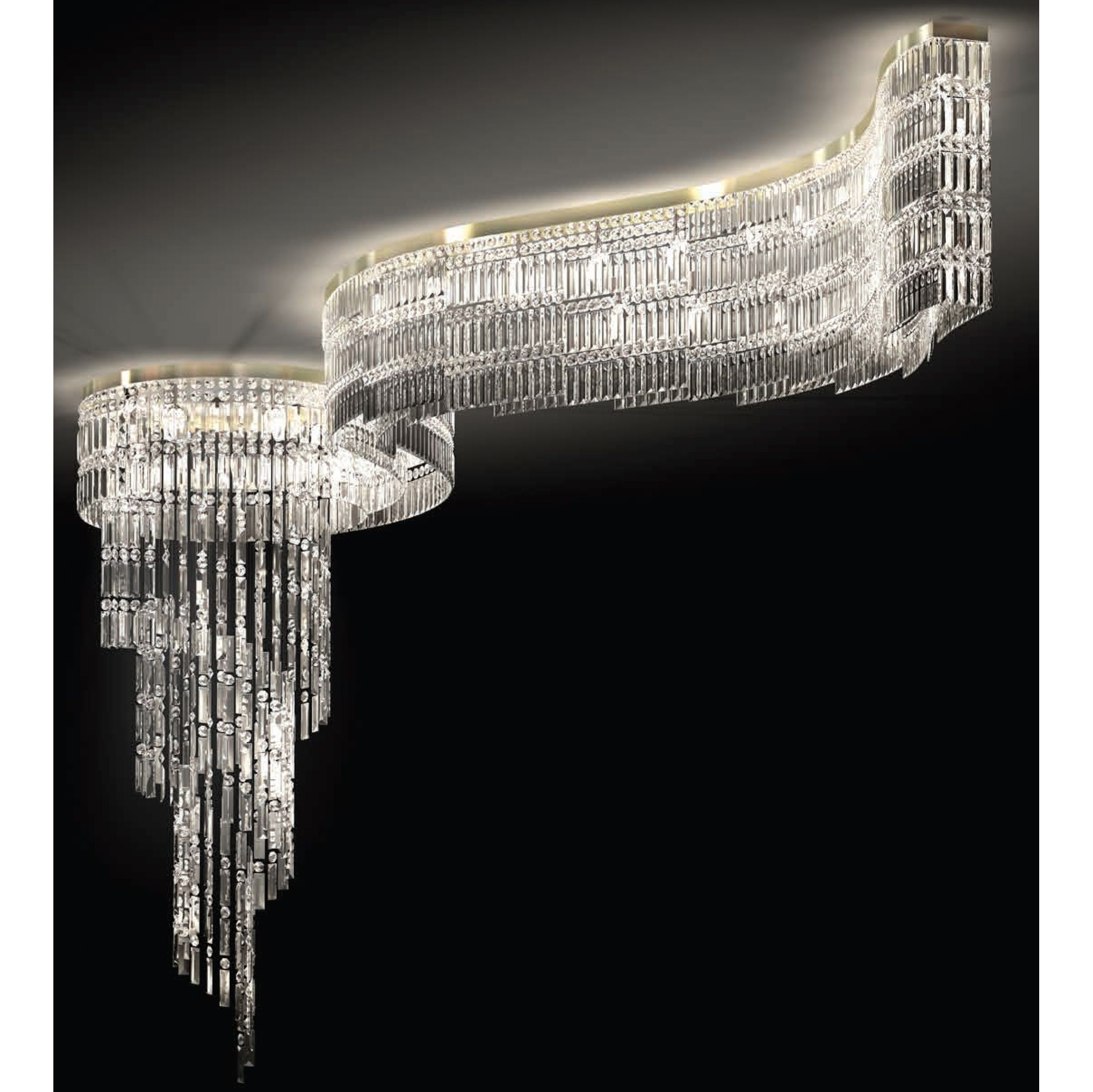 Ceiling Lighting, Ceiling Lamps, Lighting Design, Italian Style, Chandeliers, Swarovski,