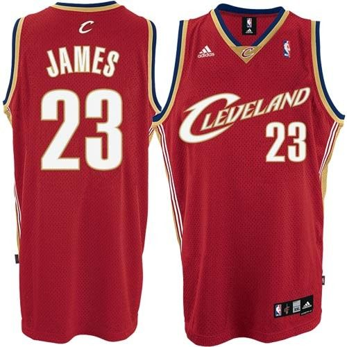 Cleveland Cavaliers #23 LeBron James 2009 Red Swingman Throwback Jersey