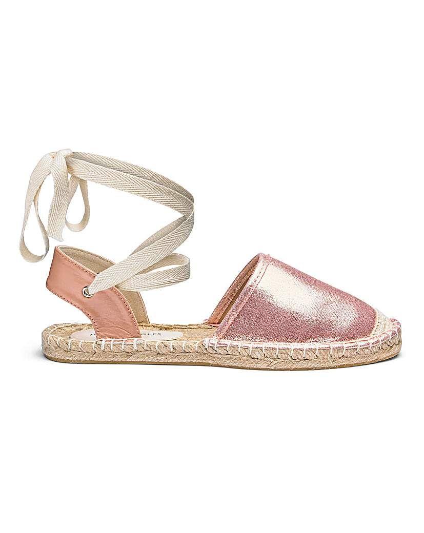 775045d971 Leg Tie Flat Espadrilles EEE Fit | Products | Espadrilles, Shoes, Sole