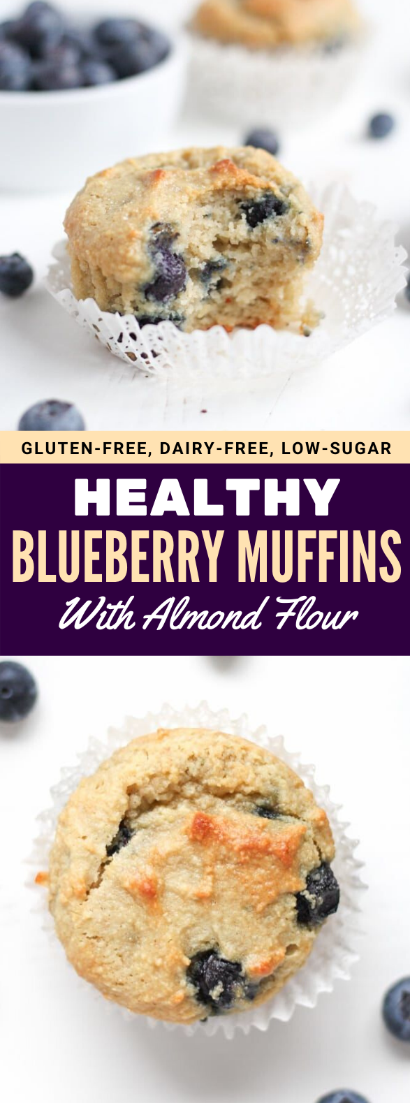 GLUTEN FREE BLUEBERRY MUFFINS (WITH ALMOND FLOUR) #healthy #diet #blueberry #glutenfree #lowcarb #almondflourbiscuits GLUTEN FREE BLUEBERRY MUFFINS (WITH ALMOND FLOUR) #healthy #diet #blueberry #glutenfree #lowcarb