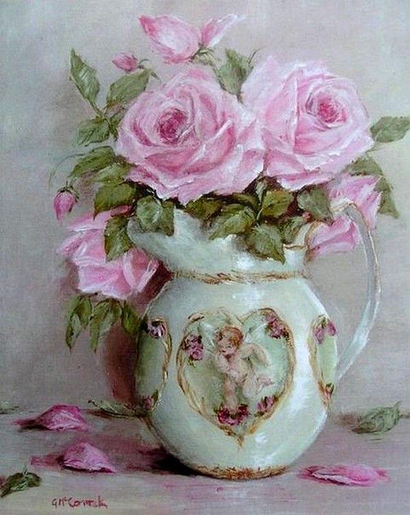 Картинки для декупажа розы с стиле шебби