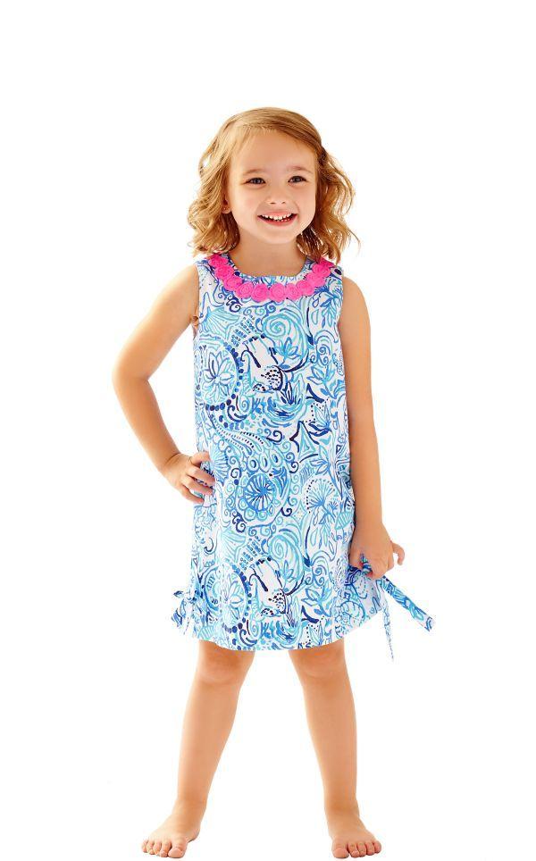 e3112001efd Girls Little Lilly Classic Shift Dress - Lilly Pulitzer Resort White Lucky  Trunks