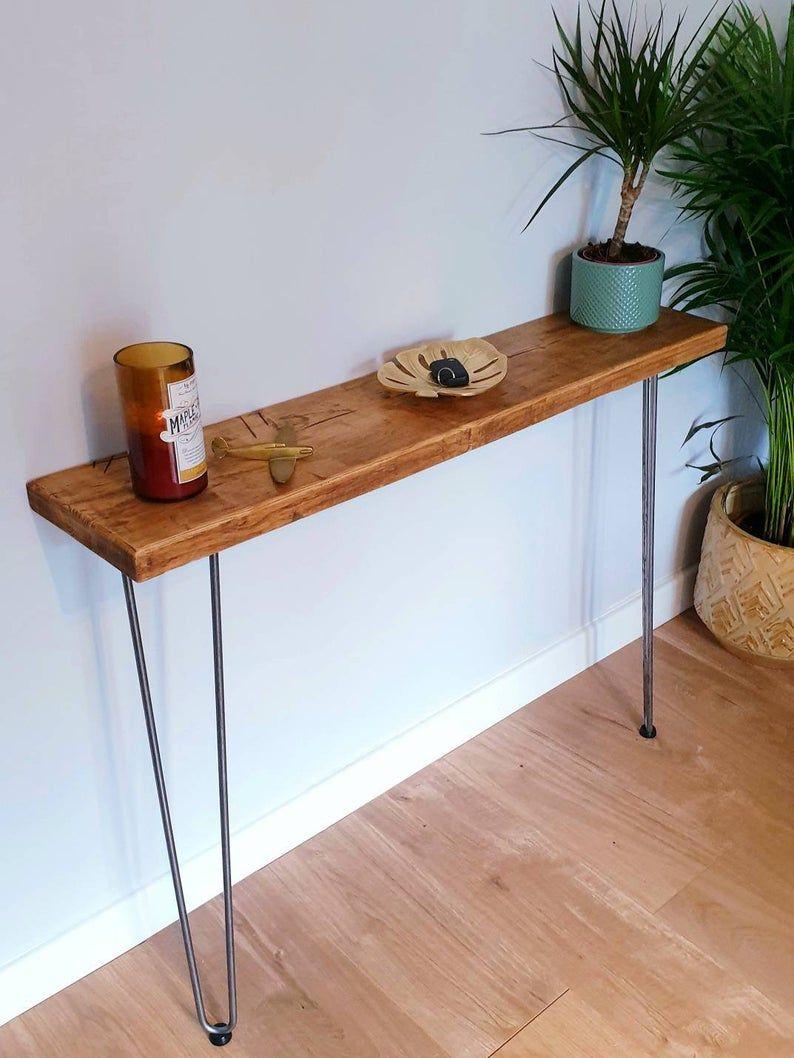 Console table Narrow Rustic Hallway Table Hallway Etsy