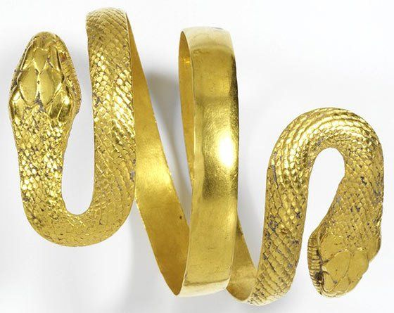 Ancient world jewellery  V museum  Armlet in the form of a snake, maker unknown, AD 1-100. Museum no. 631-1884