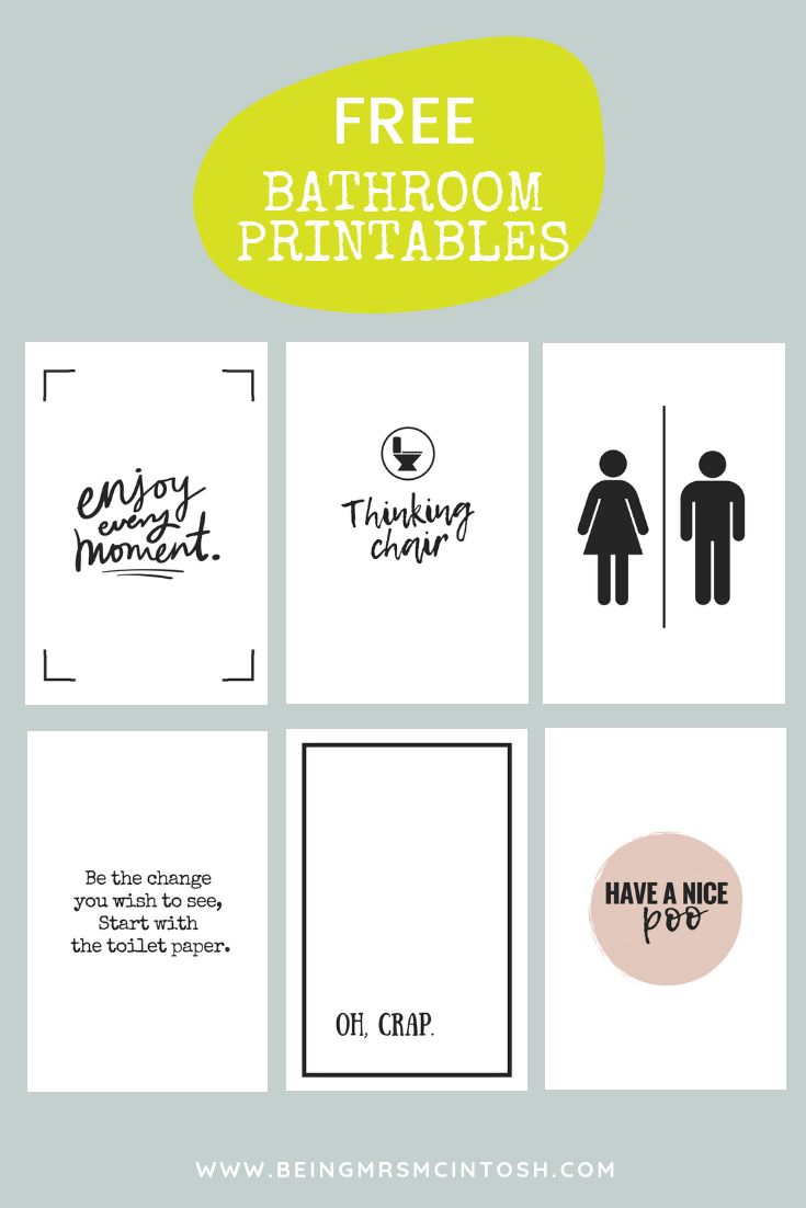 Printable Bathroom Signs Bathroom Printables Free Printable Bathroom Signs Bathroom Printables