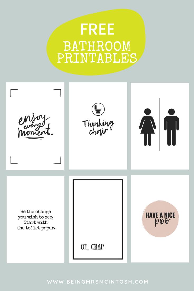 Printable Bathroom Signs Bathroom Printables Free Printable