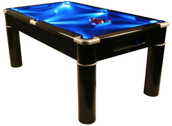 Aurora Led Lit Pool Table That Can Double Up As Card And Dining