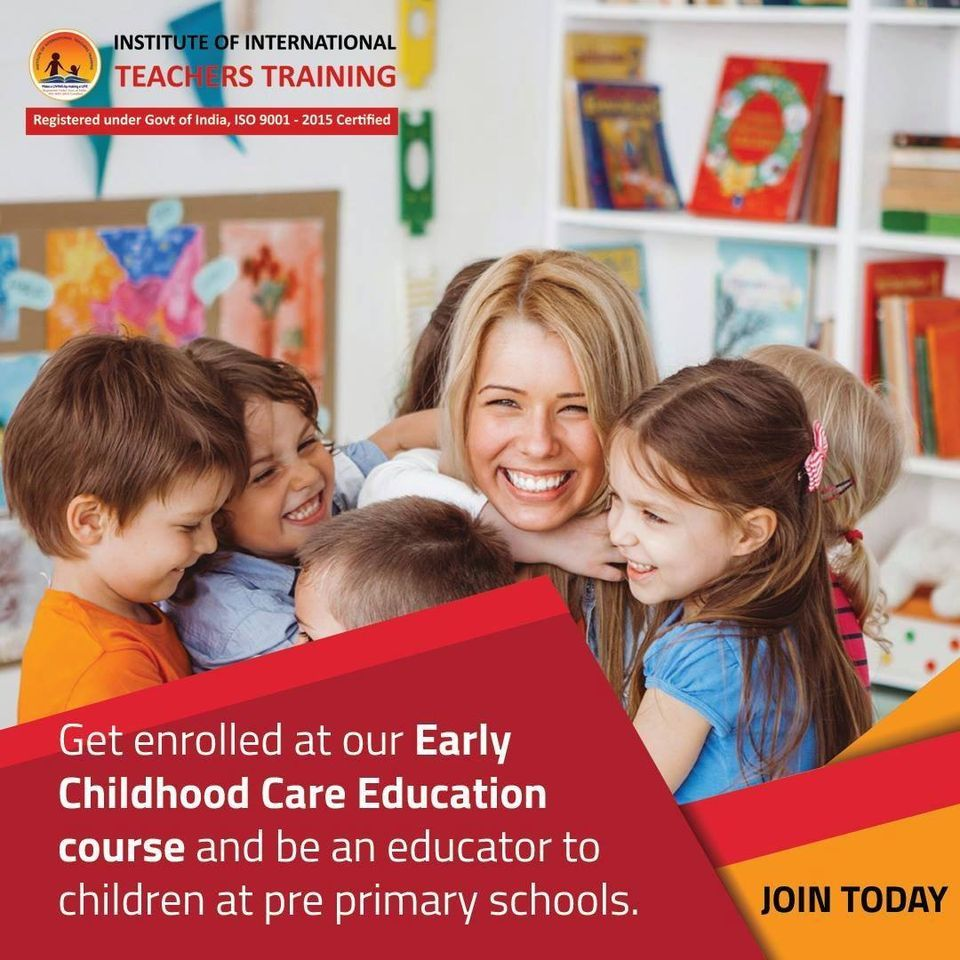 Get Enrolled at our Early Childhood Care Education Course and be an educator to children at pre primary schools.
