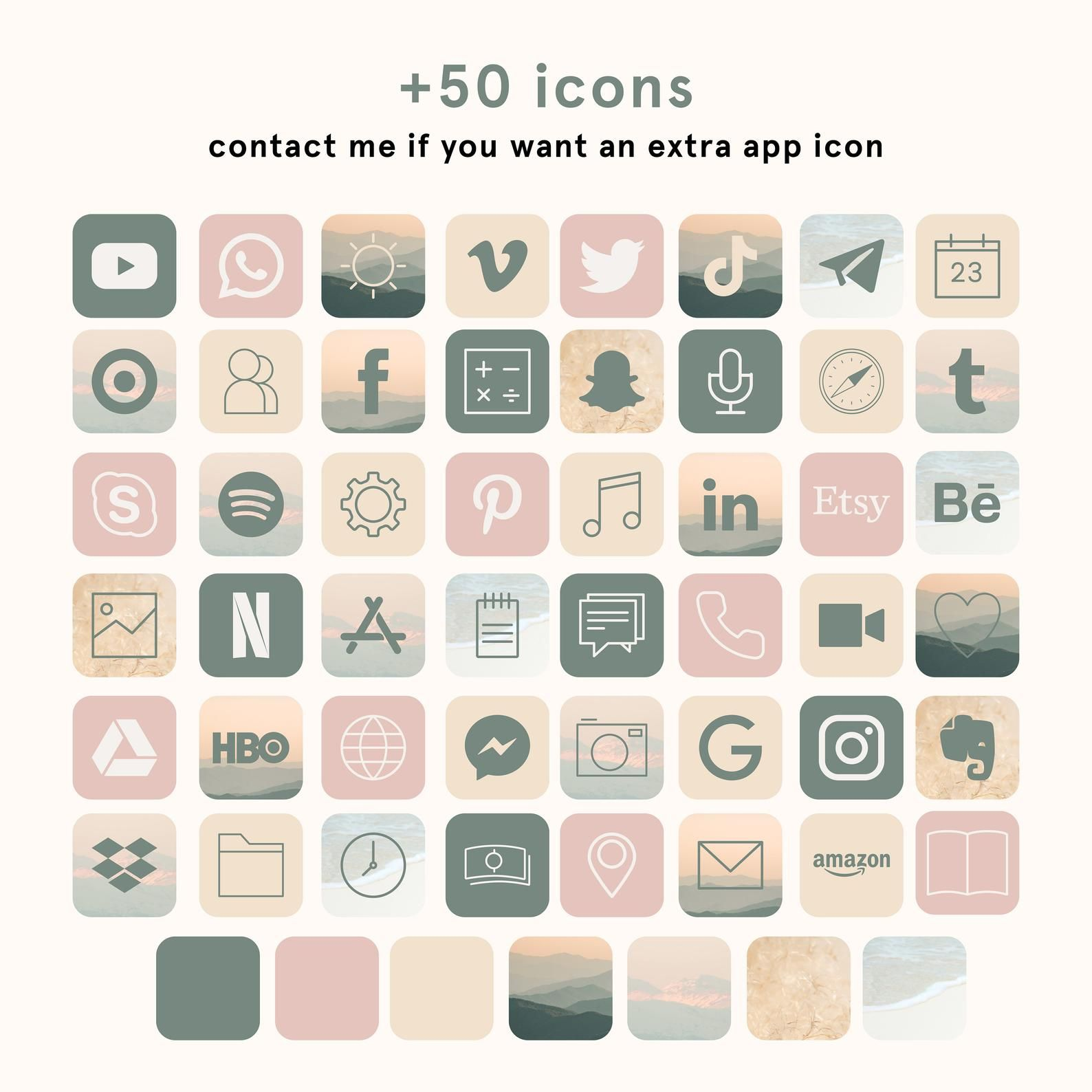Ios App Icon Bundle App Cover Iphone Aesthetic App Icons Cover App Icons Ios Iphone Organisation Ios14 App Icons 50 App Pack Ios App Icon App Icon App Covers Aesthetic app icons are hugely popular these days thanks to their ability to completely change the look and feel of your home screen, more so not only that, but you also have widgets too on ios 14, which is awesome. ios app icon bundle app cover iphone