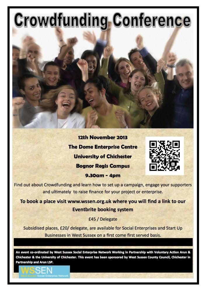 Crowdfunding Conference 12 November Bognor Regis