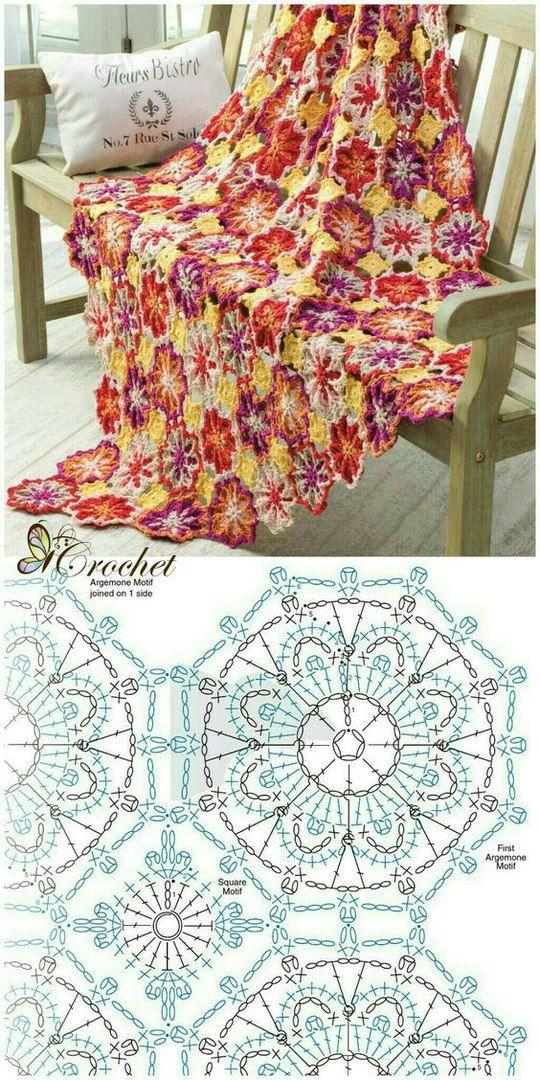 Вязаные мандалы: философия на кончике нитки... | Hexagon Crochet ...