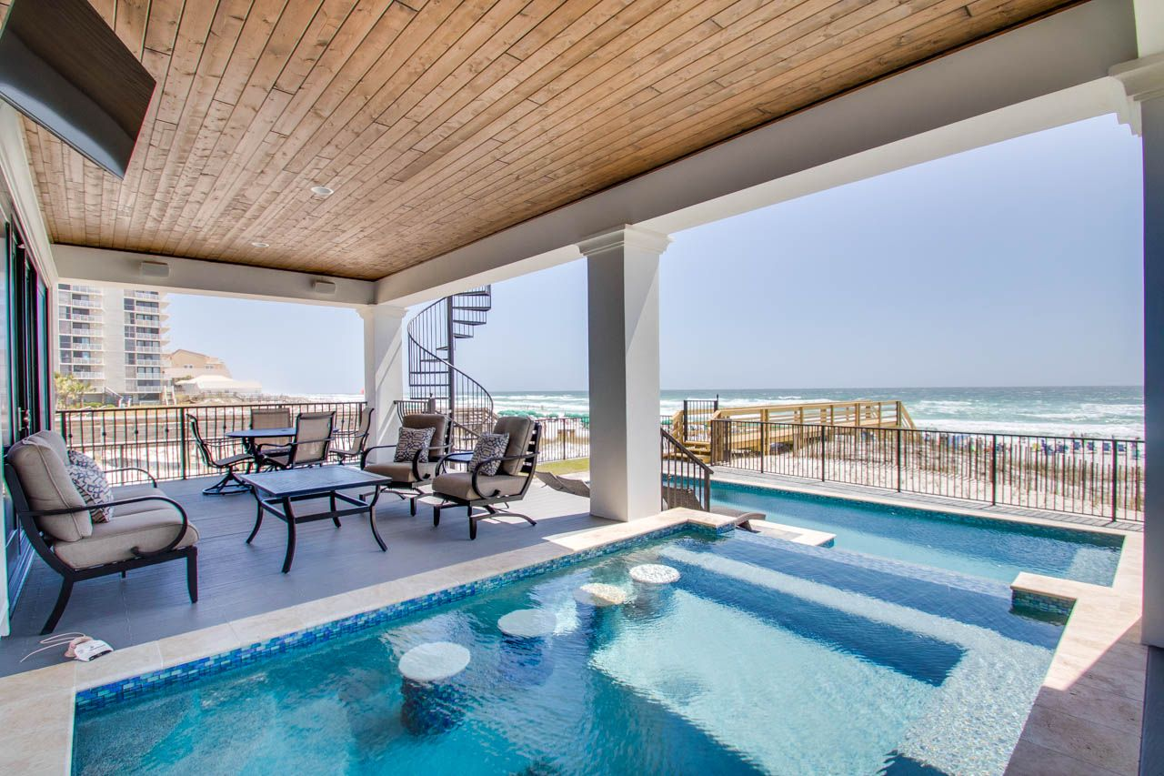 Miramar Beach Beachfront Bliss 219 Open Gulf St Take A Dip In Your Own Private Pool Or Take A Stroll Down T Miramar Beach Miramar Beach Florida Florida Home