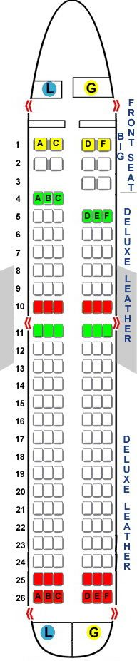 spirit airline seating airbus a319 Airline Seating Charts Spirit