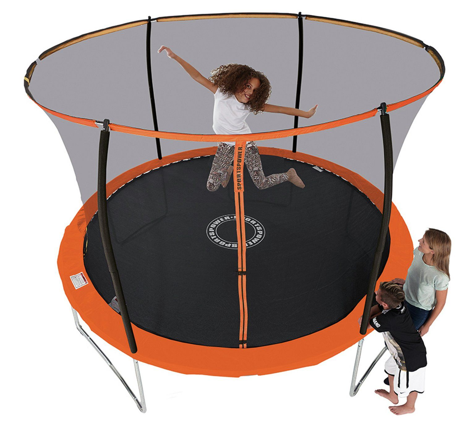 Buy Sportspower 8ft Trampoline With Folding Enclosure At Argos Co Uk Visit Argos Co Uk To Shop Online For Trampo 8ft Trampoline Backyard Trampoline Trampoline