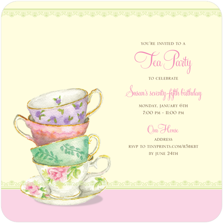 80th Birthday Party Ideas | Best Party invitations, Tea parties ...