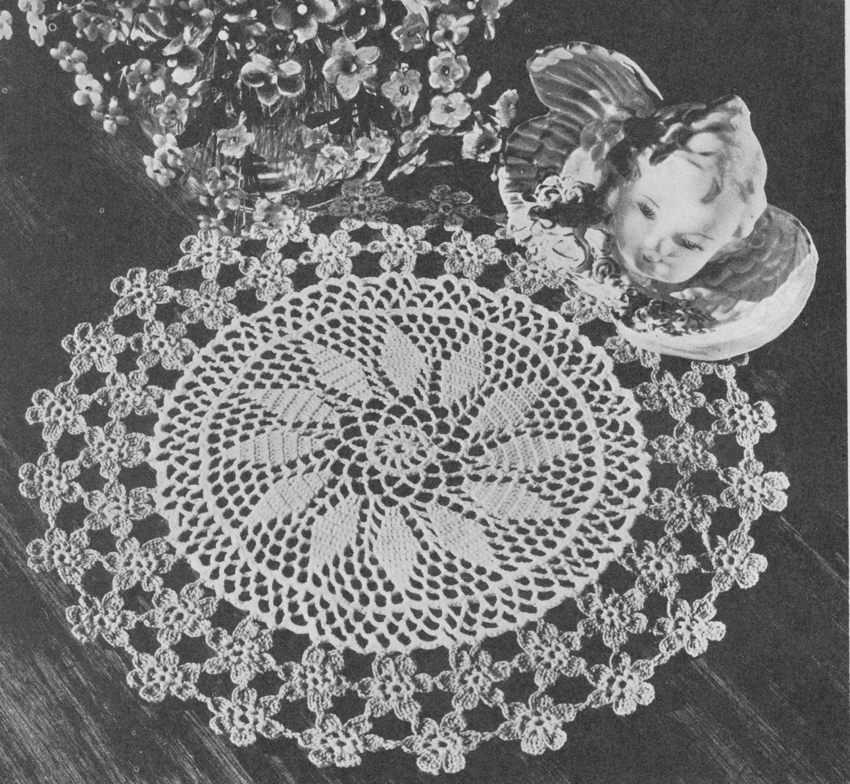 Forget me Not Favourite Vintage Crochet Doily Pattern | Vintage ...