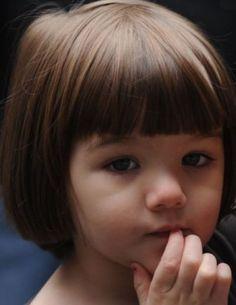 toddler with bangs , suri cruise