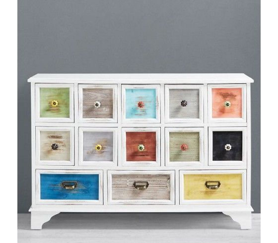 kommode fox mit bunten 003712006101 bild. Black Bedroom Furniture Sets. Home Design Ideas