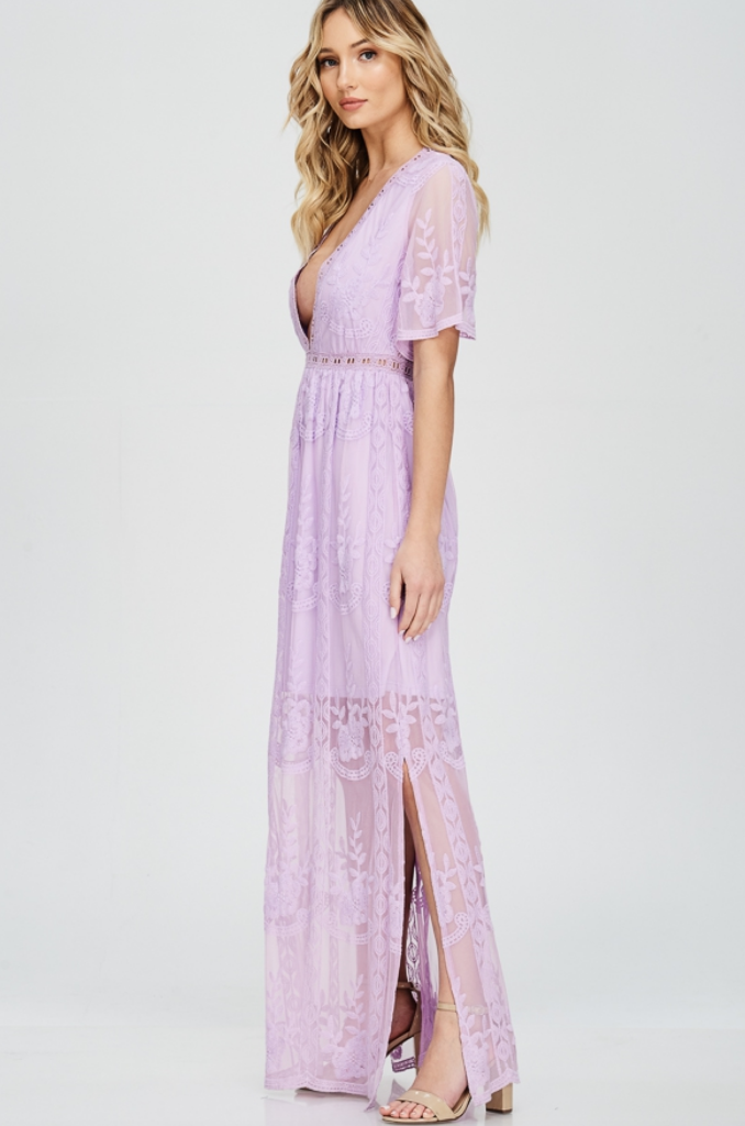 Lavender Lace Maxi Dress In 2019 Lavender Lace Dress