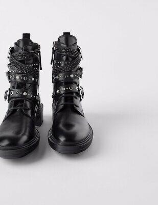 (eBay Advertisement) Zara women's Leather Moto Ankle Boots Sz 10 Euro 41 -  (eBay Advertisement) Zara women's Leather Moto Ankle Boots Sz 10 Euro 41  - #Advertisement #Ankle #anklebootsflatblack #Boots #eBay #Euro #Leather #Moto #Womens #Zara